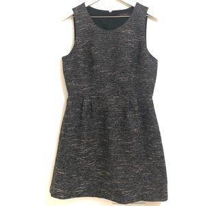 The Limited Black Shimmer Tweed Fit & Flare Dress